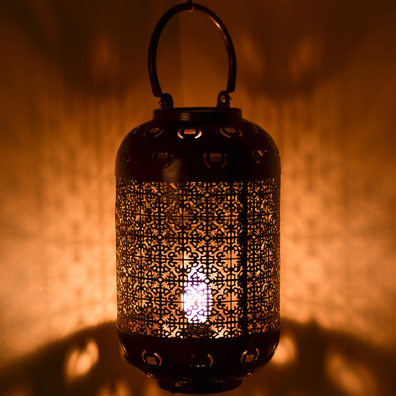 Classic Moroccan Hanging Tub Lamp Antique Copper