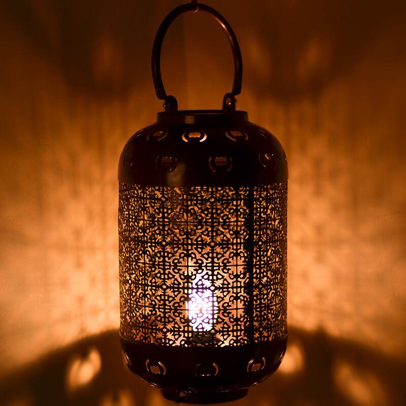 Classic Moroccan Hanging Tub Lamp Antique Copper
