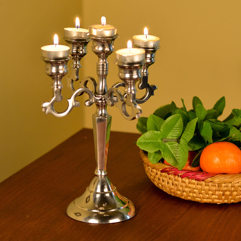 "Classic French Candelabrum, Candle Stand (12"")"