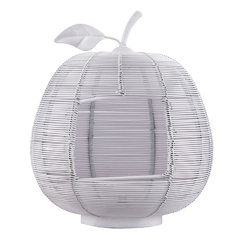 White Apple Classic Candle Holder