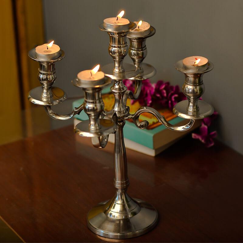"Classic 12"" candelabrum, 5 arms"