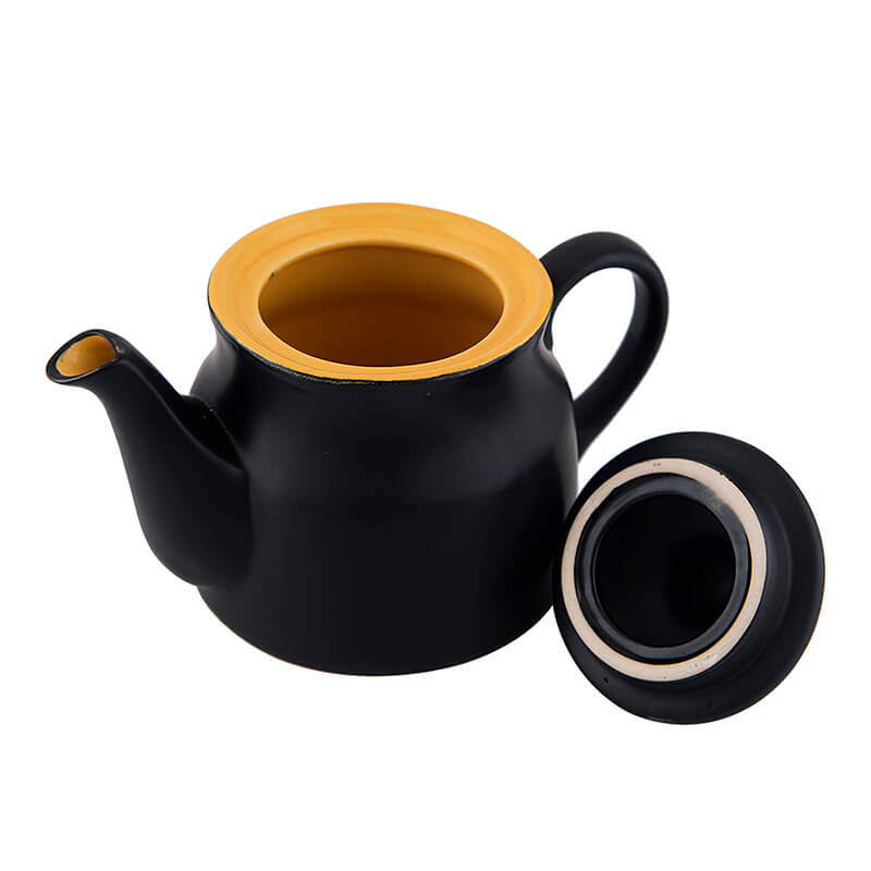 Ceramic Matt Black Tea Pot