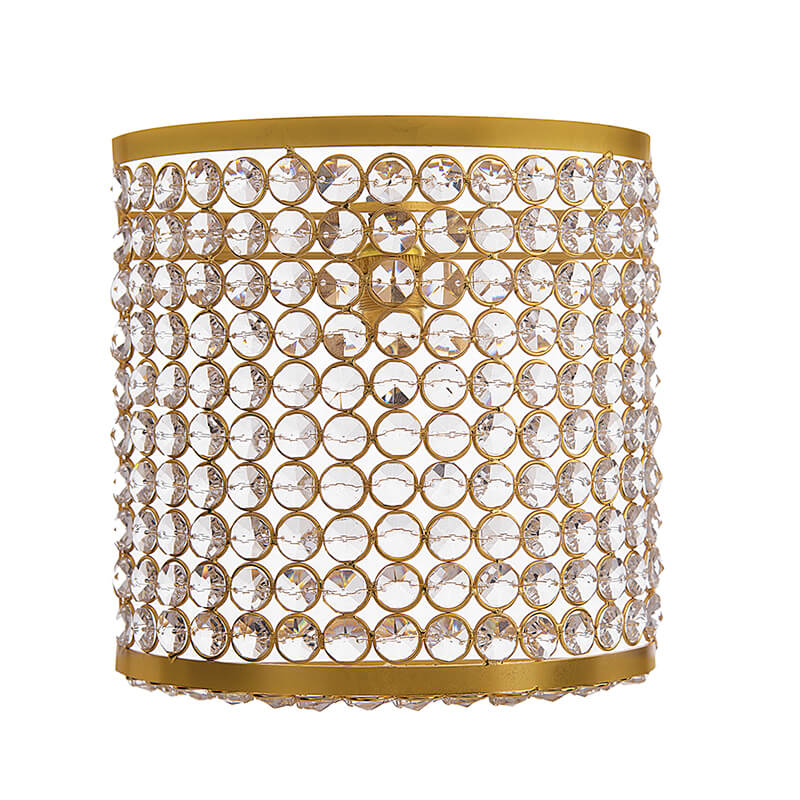 Crystal French Wall Sconce Lamp, Decorative Door Light,Gold and Crystal