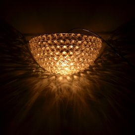 Crystal Round Wall Sconce Lamp, Decorative Door Light,Silver and Crystal