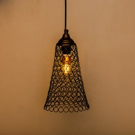Hanging Black Steel Cone Light, Hanging Light and Fixture