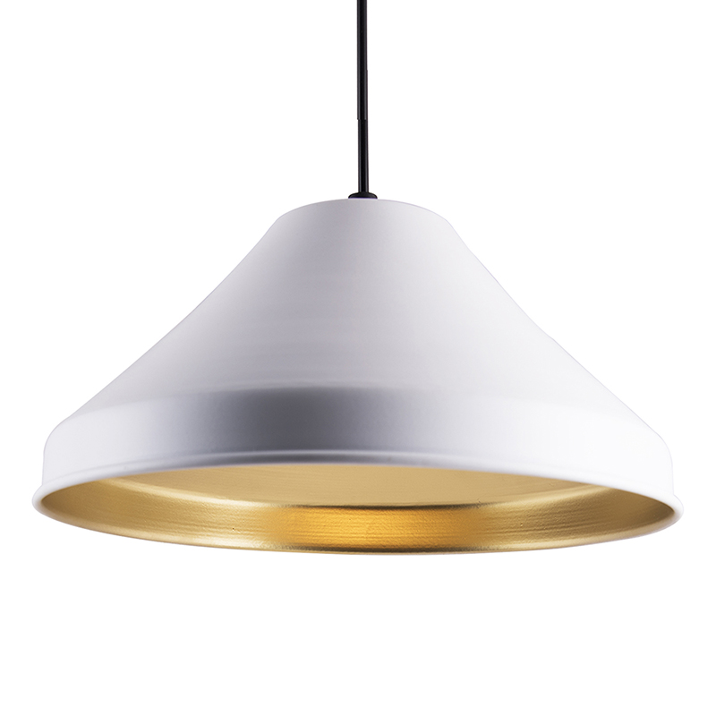 Classic Inverted Cone White Hanging Lamp, Pendant Light