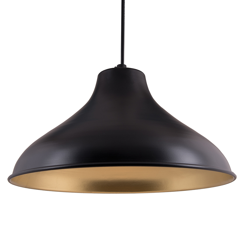 Cubist Crown Hanging Black Lamp, Pendant Light
