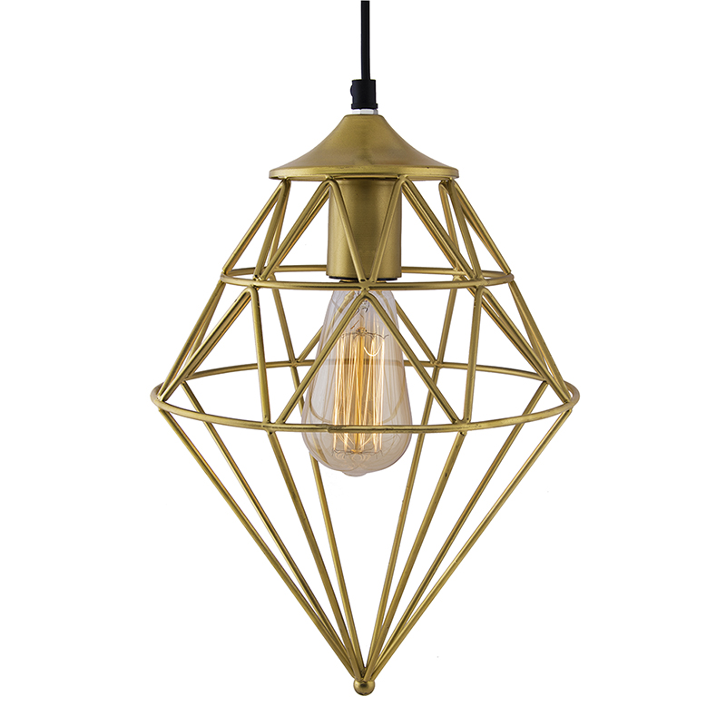 Golden Vintage Edison Filament Hanging Classic Gem , E27 Hanging Ceiling Light for LED/Filament Bulb, Decorative Urban Retro Lighting