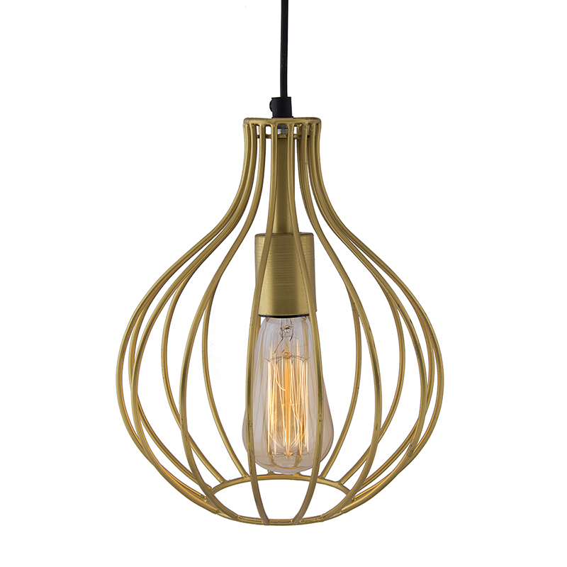 Golden Vintage Edison Filament Hanging Crown , E27 Hanging Ceiling Light for LED/Filament Bulb, Decorative Urban Retro Lighting