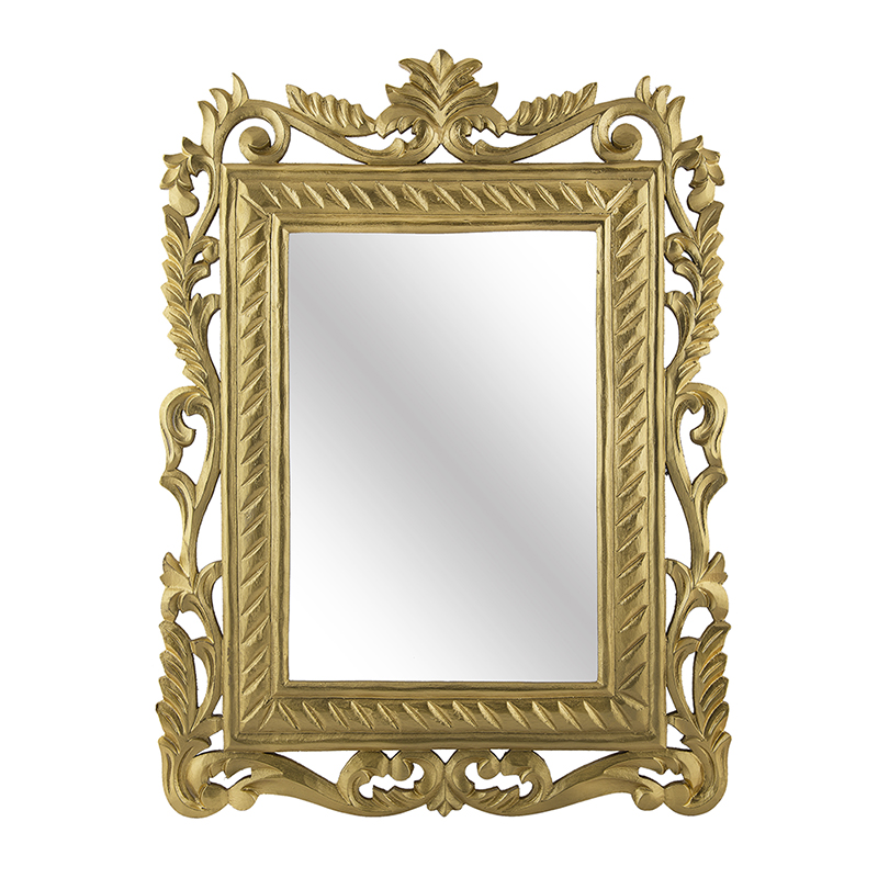 French Carved Royal Vintage Decorative Wooden Wall Mirror,Antique Classic Gold