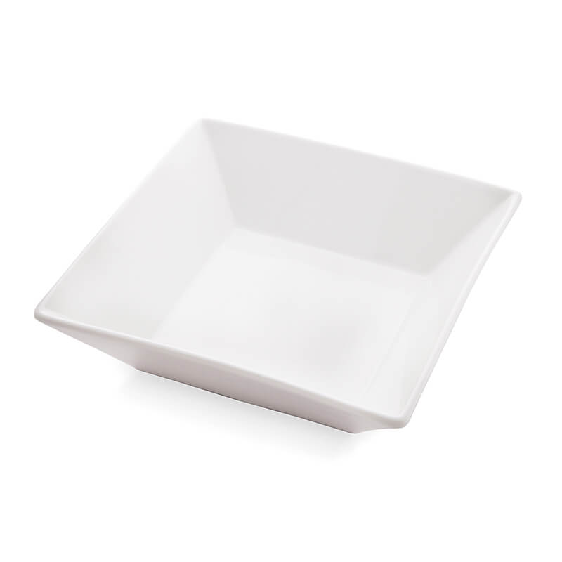 White Fine Porcelain Square Serving Bowl, Fruits, Snacks, Pasta, Dish Bowl