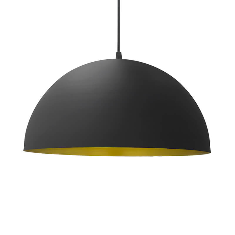 "Metallic Black Pendant Hanging Light, Hanging Lamp 12"", Industrial E27 Lamp"