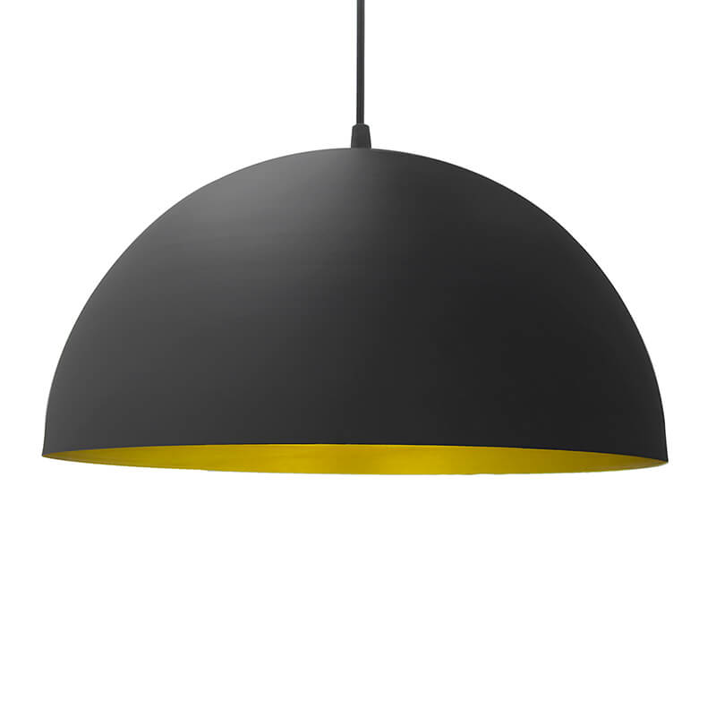 "Metallic Black Pendant Hanging Light, Hanging Lamp 14"", Industrial E27 Lamp"
