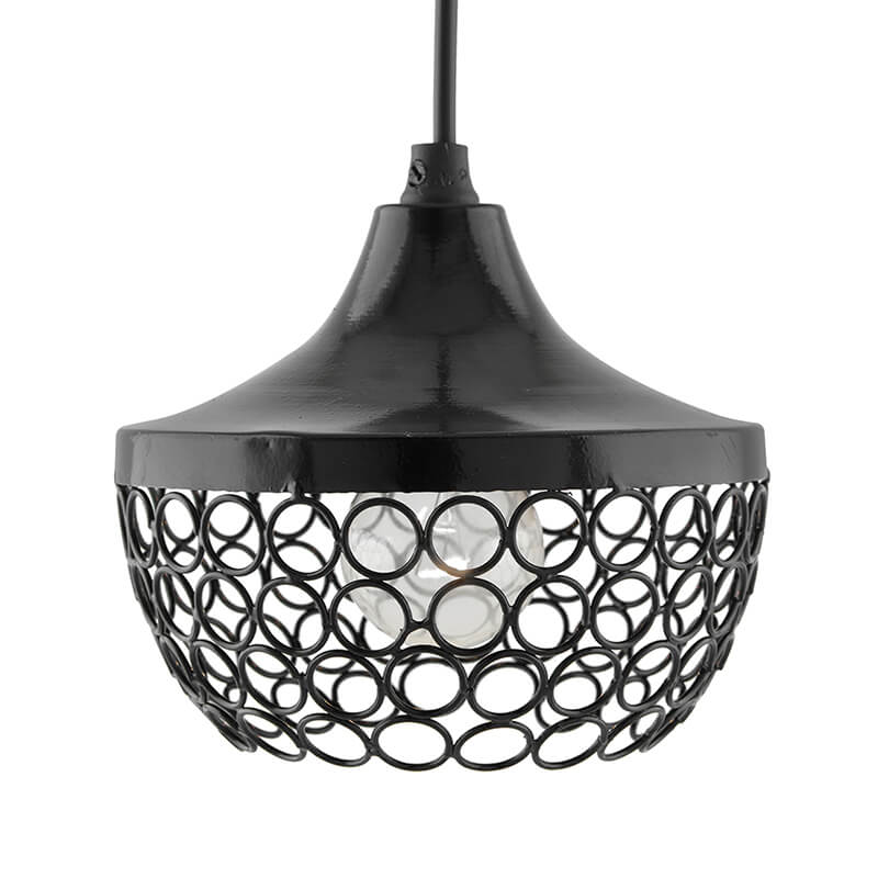 Glossy Black Hanging Goblet Light, Ceiling Light, Nordic E27 Pendant