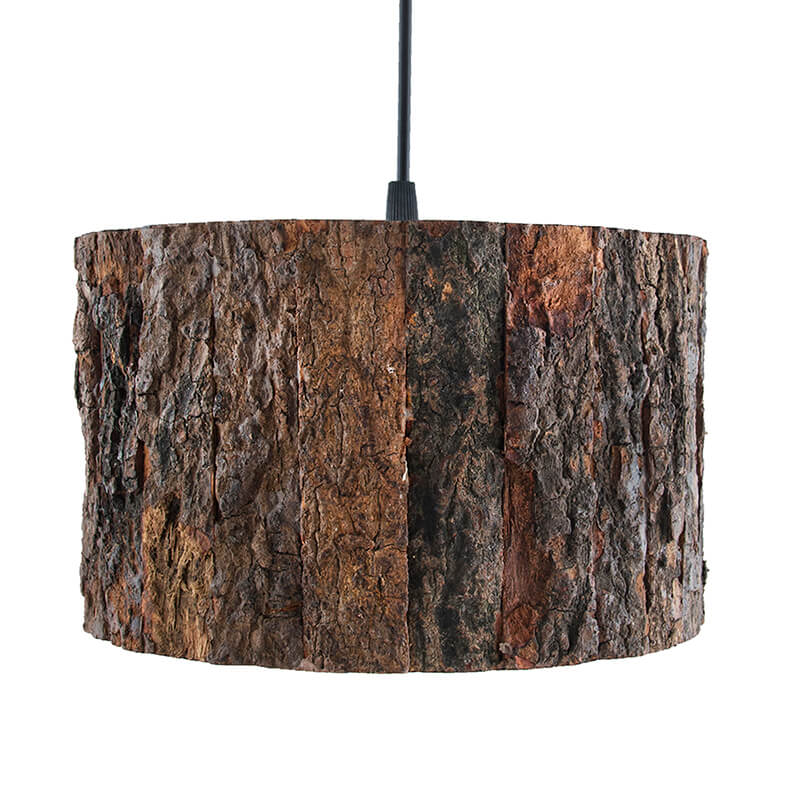 Rustic Wooden Log Hanging Pendant light, Industrial Outdoor Light, E27