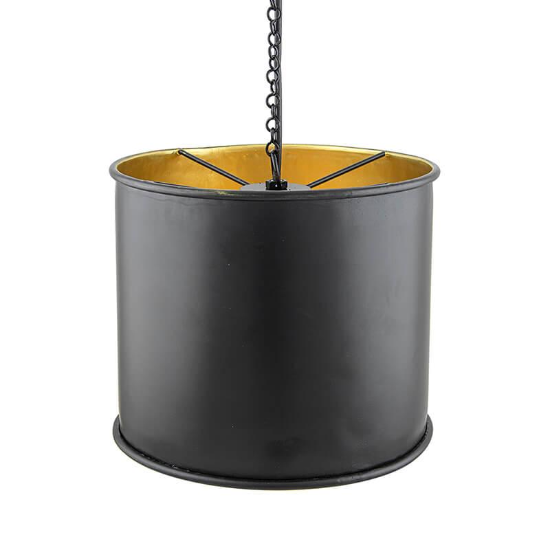 Classic Metal Shade Pendant Light, E27 Matt Black Industrial Nordic Ceiling Hanging Light