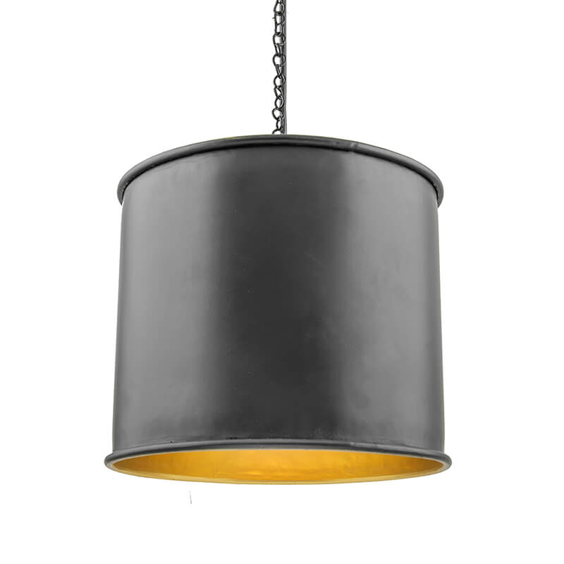 Classic Metal Shade Pendant Light, E27 Matt Black Industrial Nordic Ceiling Hanging Light
