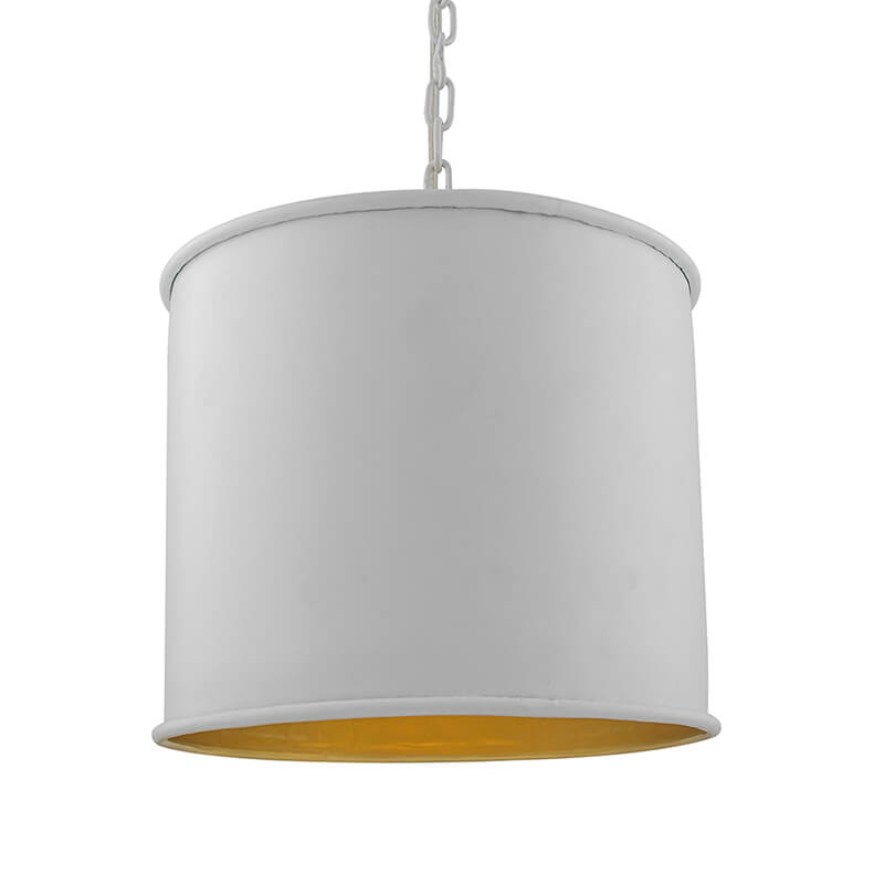Classic Metal Shade Pendant Light, E27 White Golden Industrial Nordic Ceiling Hanging Light