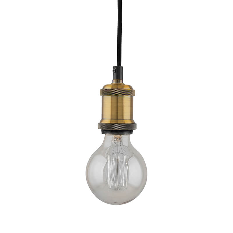E26/ E27 Industrial Light Hanging Vintage Edison Pendant Lamp Metal, Antique Brass