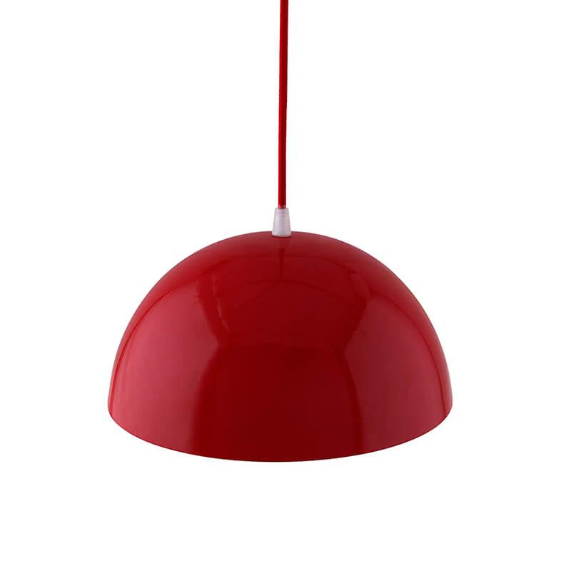 """Metallic Red Glossy Pendant Hanging Light, Hanging Lamp 10"""""""