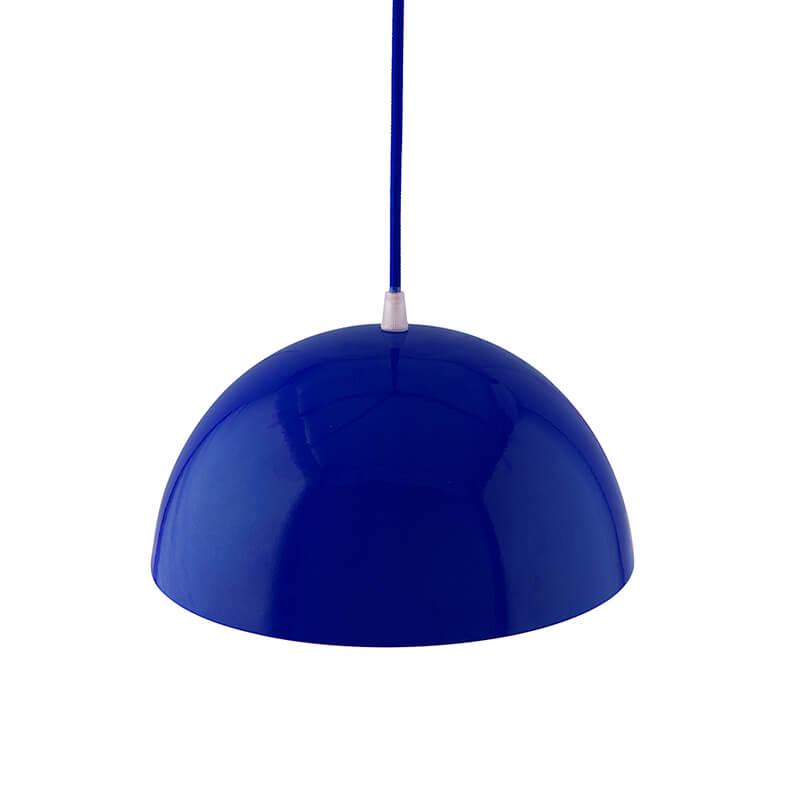 """Metallic Blue Glossy Pendant Hanging Light, Hanging Lamp 10"""""""