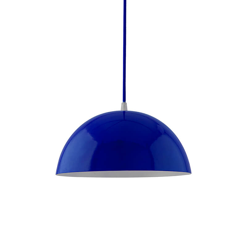Metallic Blue Glossy Pendant Hanging Light, Hanging Lamp 10""