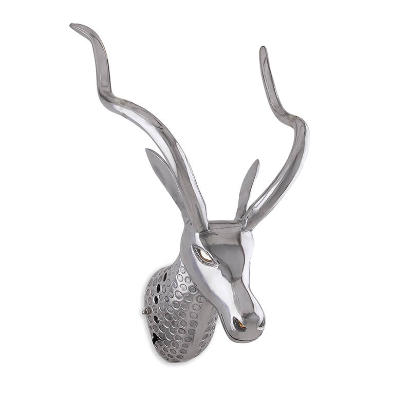 Trophy Deer Head Wall Light, Wall Art Deco Metal Lamp, Modern Antler Wall Lamp,Living Room,Bar,Cafe