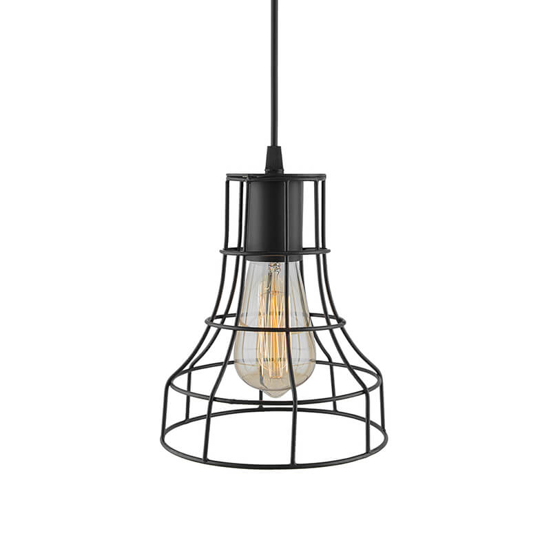 E27 Ediosn Vintage Black Metal Shade Hanging Light, Pendant Ceiling Light Lamp