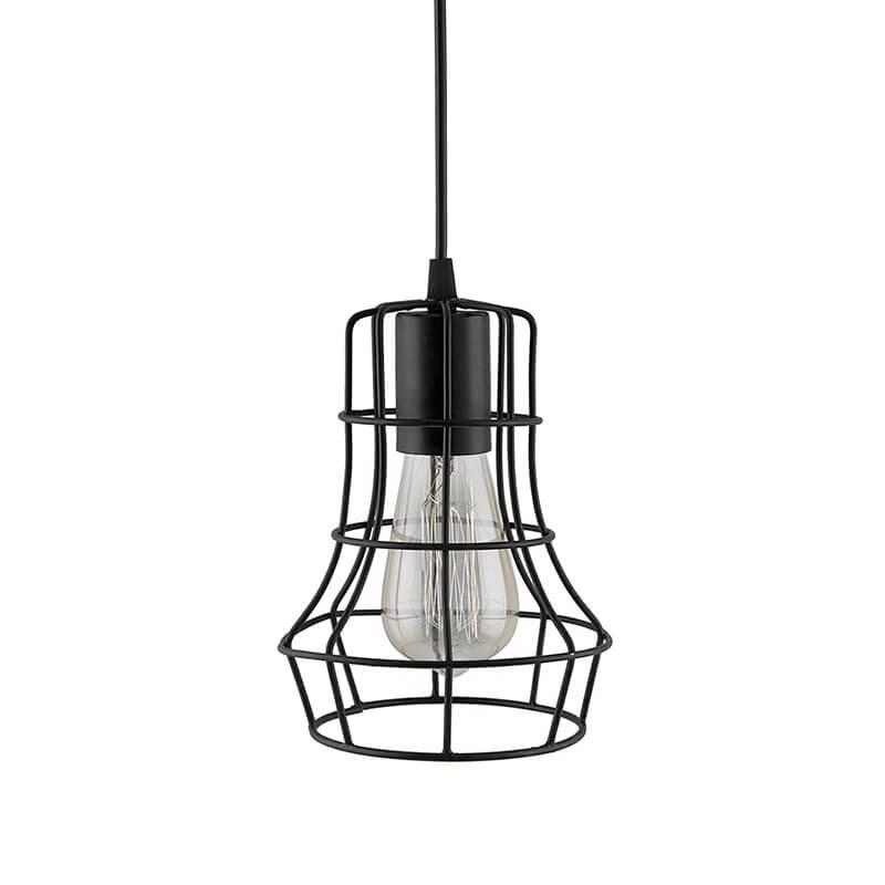 E27 Ediosn Vintage Black Metal Crown Hanging Light, Pendant Ceiling Light Lamp