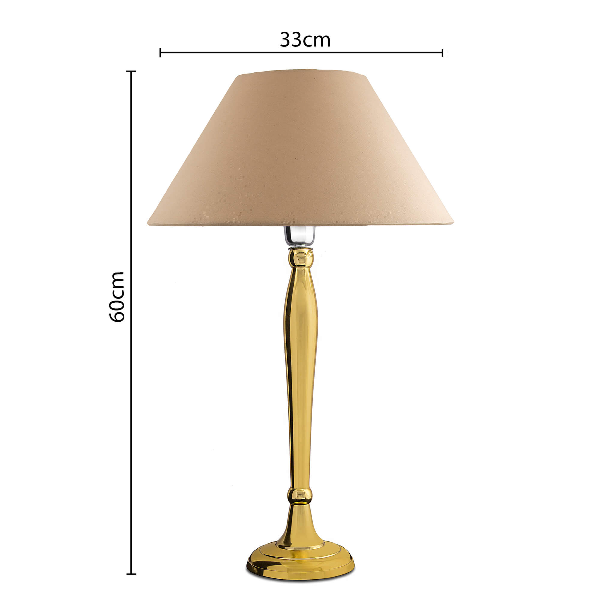 Royal Ovoid Gold Brushed Lamp with Golden Shade