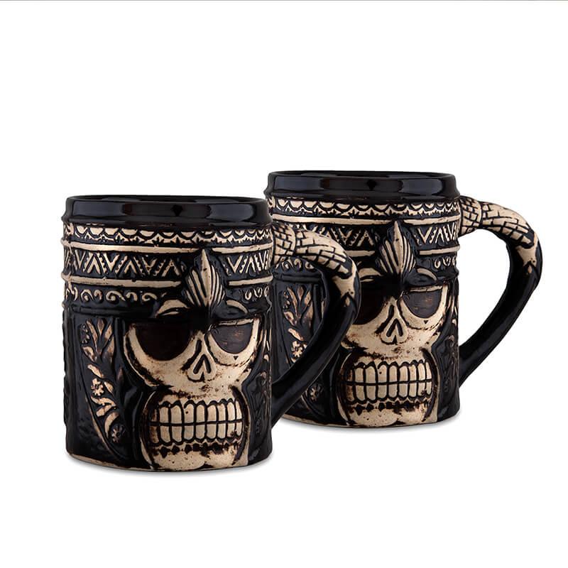 Ceramic Ghost Mug Tumbler, Party Glasses, Beer Tea Coffee Cups, Set of 2