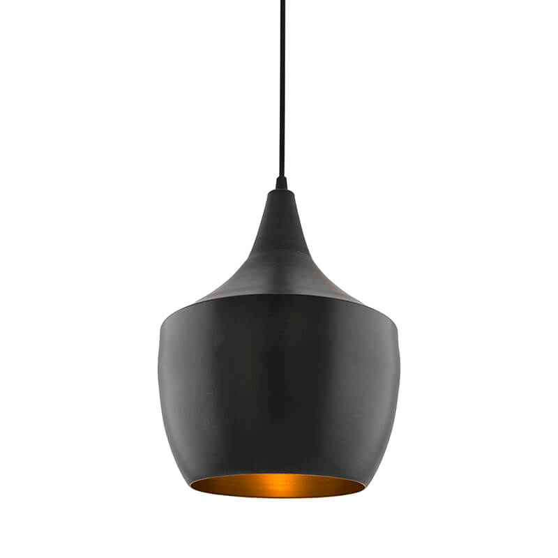 Black Metal Modern Hanging Light, E26/27 Nordic Pendant Lamp, Pear Shaped Kitchen, Bedroom, Living Room Ceiling Lamp