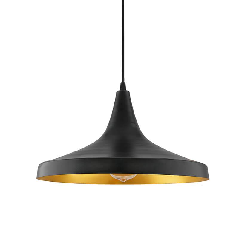 Black Metal Modern Hanging Light, E26/27 Nordic Pendant Lamp, Danish Shaped Kitchen, Bedroom, Living Room Ceiling Lamp