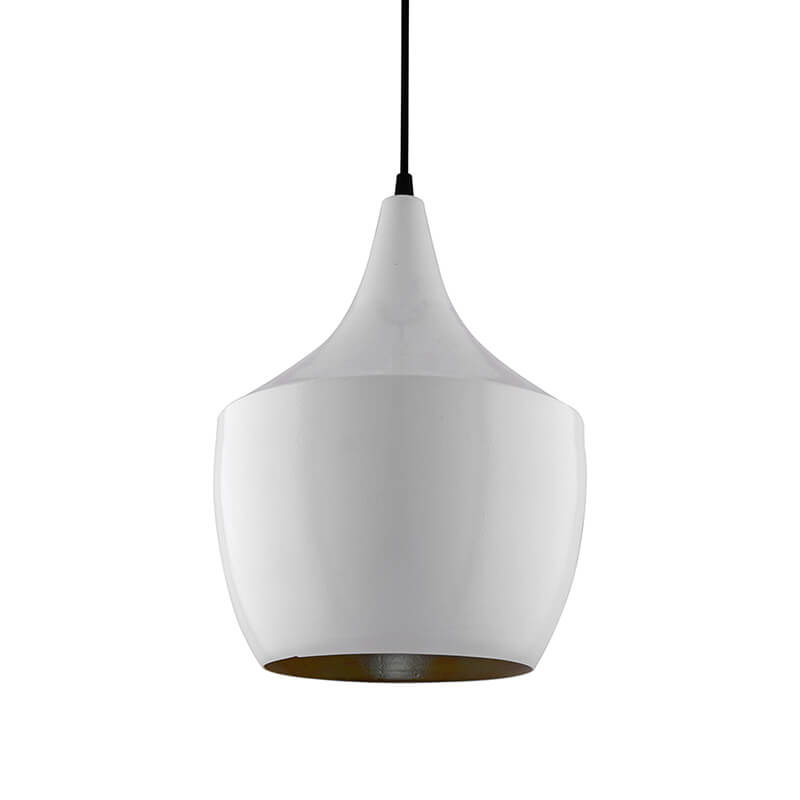 White Metal Modern Hanging Light, E26/27 Nordic Pendant Lamp, Pear Shaped Kitchen, Bedroom, Living Room Ceiling Lamp
