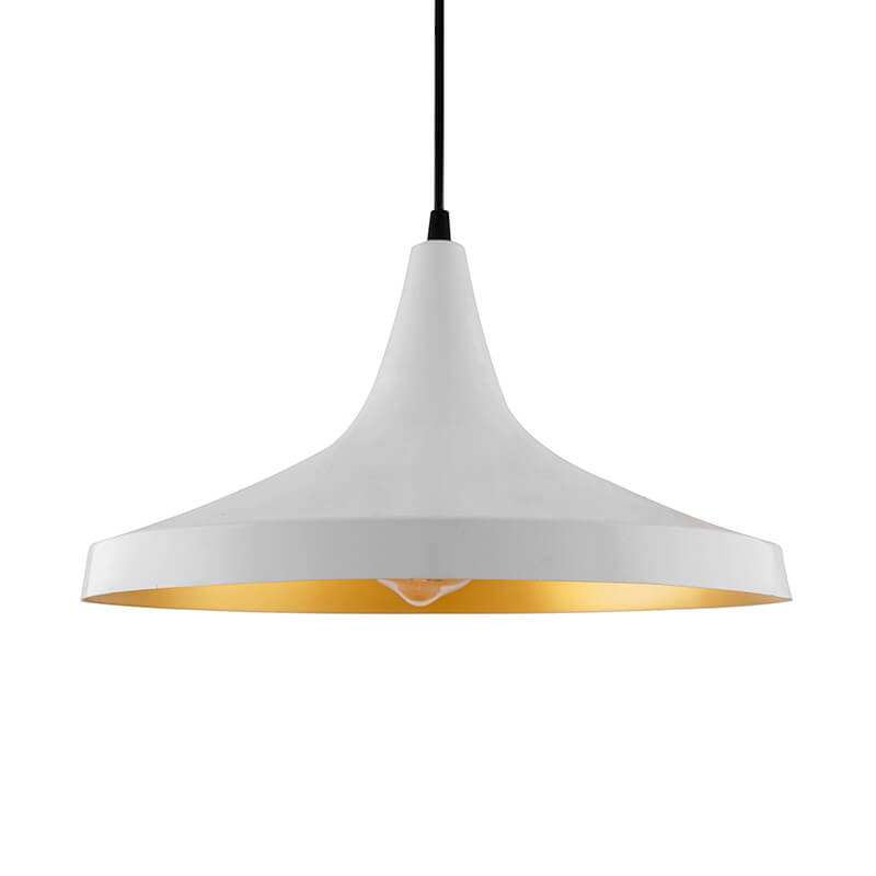 Metal Modern Hanging Light, E26/27 Nordic Pendant Lamp, Danish Shaped Kitchen, Bedroom, Living Room Ceiling Lamp