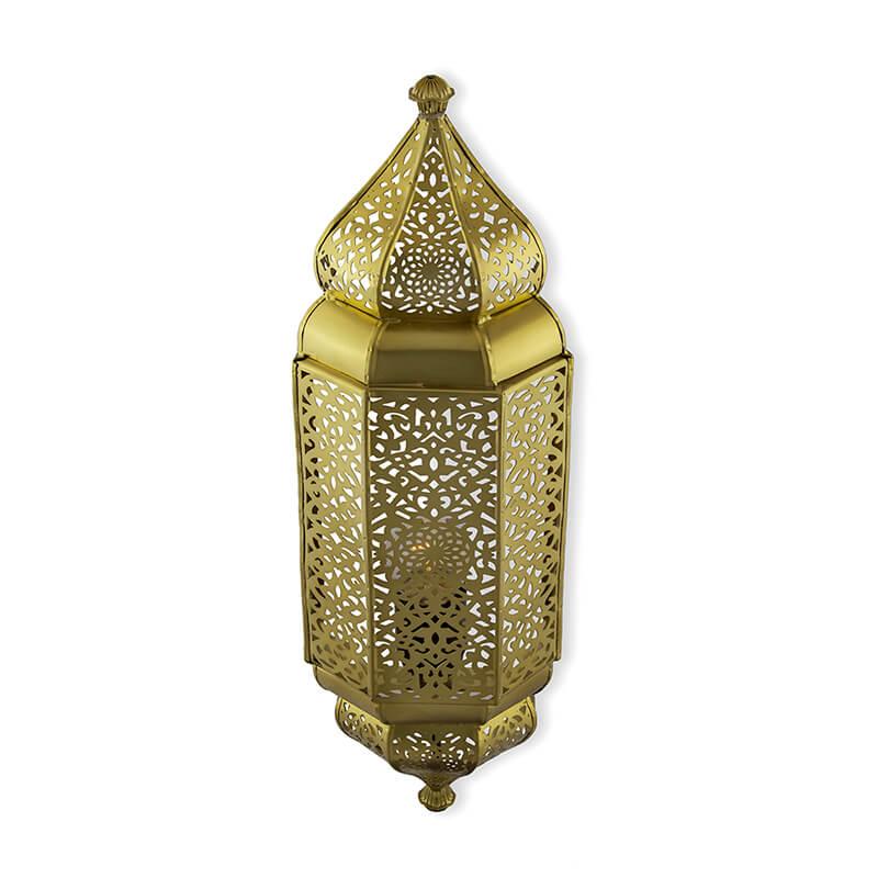 Vintage Filgree Moroccan Wall Sconce Lamp, Decorative Door Light, Antique Finish