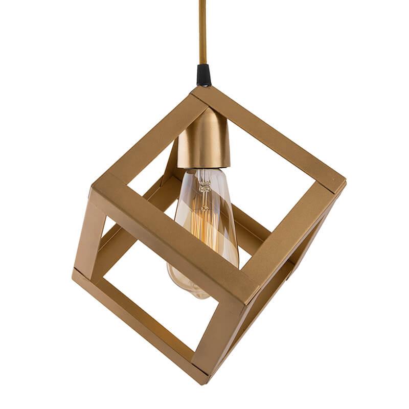 "Edison Filament Hanging Cube 6"", E27 Holder, Decorative, URBAN Retro, Nordic Style, LED/Filament Bulb"
