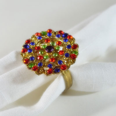 Regal Rainbow Napkin Ring (4 pcs)