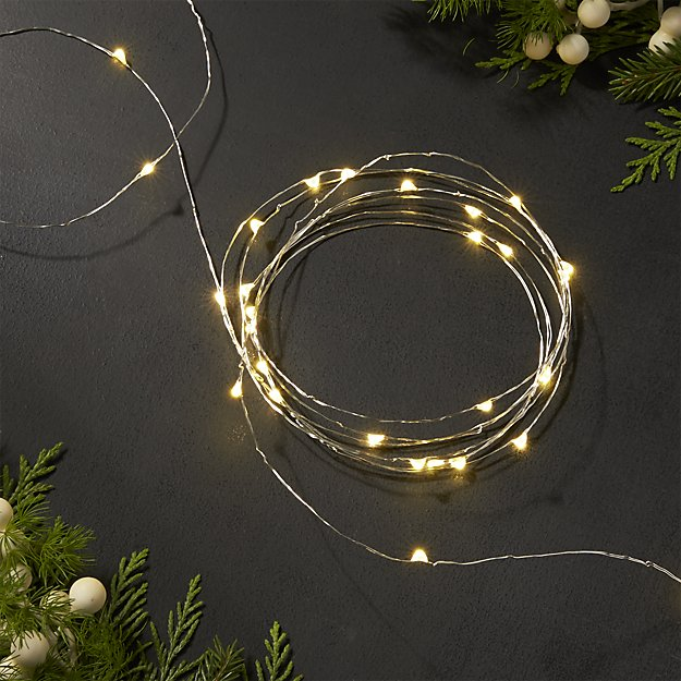 50-LED Fairy Copper String Lights 5m Waterproof, 3AA Battery, Warm White