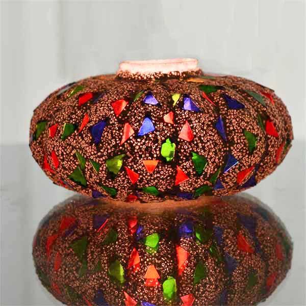 Mosaic Melon Votive Large